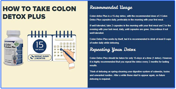how to take colon detox plus